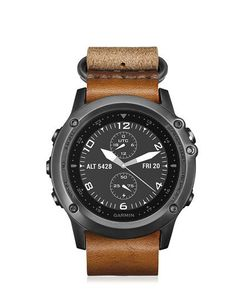 GARMIN | Fenix 3 Sapphire Leather Watch