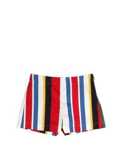 MARNI JUNIOR | Striped Cotton Gabardine Shorts