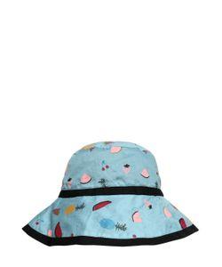 Rykiel Enfant | Fruit Print Cotton Muslin Hat