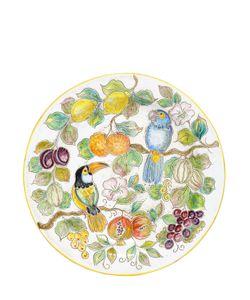 CERAMICHE PUGI | Toucan Fruit Majolica Ceramic Plate