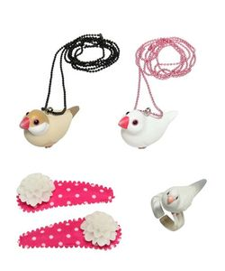 POP CUTIE | Birds Ring Necklaces Hairclips Set