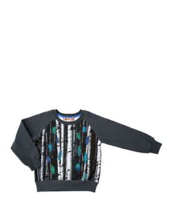 ANNE KURRIS | Digital Print Cotton Fleece Sweatshirt