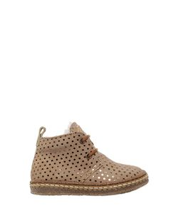 Ocra | Polka Dot Suede Shearling Boots