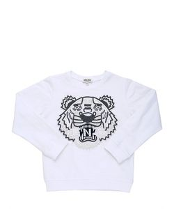 Kenzo Kids | Tiger Embellished Cotton Sweatshirt