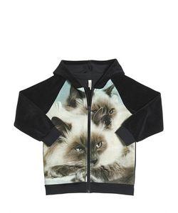 Popupshop   Print Organic Cotton Chenille Sweatshirt