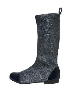 Pom D'Api | Glitter Neoprene Patent Leather Boots