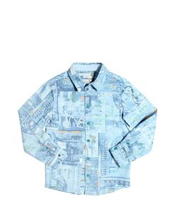 Paul Smith Junior | Circuit Board Print Cotton Poplin Shirt