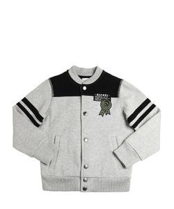Diesel Kids | Cotton Sweatshirt Bomber Jacket