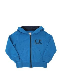 C.P.COMPANY UNDERSIXTEEN   Hooded Cotton Sweatshirt With Goggles