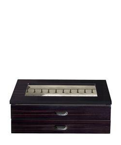 AGRESTI | Polished Ebony Wood Cufflinks Box