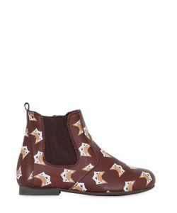 MANUELA DE JUAN | Fox Printed Leather Ankle Boots