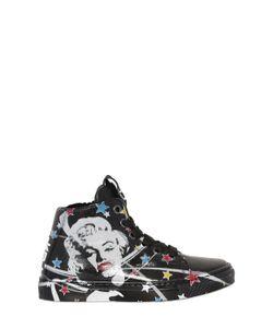 BE KOOL | Marilyn Print Leather High Top Sneakers