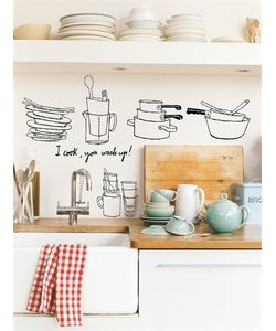 CHISPUM | I Cook You Wash Up Medium Wall Stickers