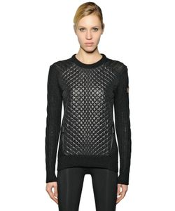 Moncler Grenoble | Quilted Nylon Lacque Alpaca Sweater