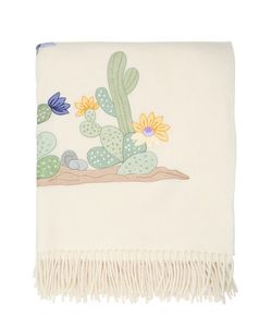 LORETTA CAPONI | Flower Cactus Wool Throw