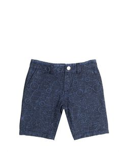 Paul Smith Junior | Stretch Cotton Denim Jacquard Shorts
