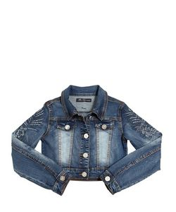 Blumarine Jeans | Embellished Stretch Denim Jacket