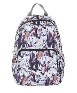 Molo | Horse Printed Nylon Canvas Backpack