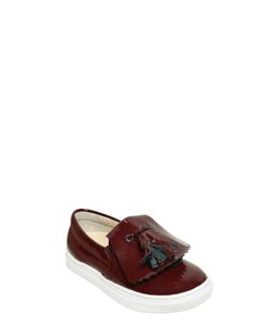 TWO CON ME BY PÈPÈ | Patent Leather Slip-On Sneakers