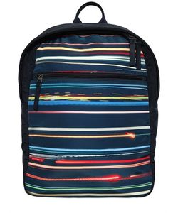 Paul Smith Junior | Lights Printed Nylon Backpack