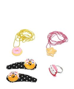 POP CUTIE | Desserts Ring Necklaces Hairclip Set