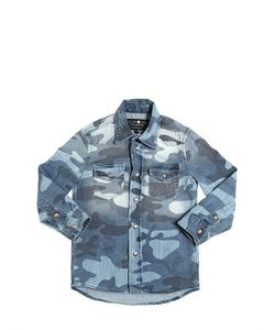 HYDROGEN KID | Camouflage Printed Shirt