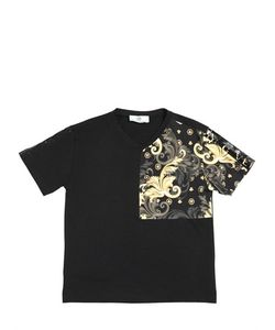 Young Versace | Printed Cotton Jersey T-Shirt