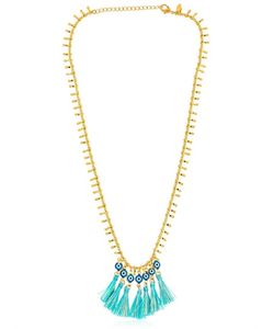 Chanael K | Evil Eye Tassel Necklace