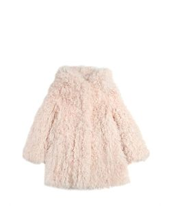 YVES SALOMON ENFANT | Knitted Kalgan Lamb Fur Hooded Coat