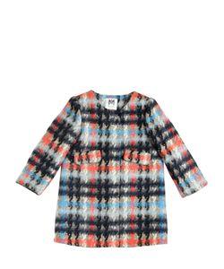 MILLY MINIS | Plaid Felt Cotton Wool Blend Coat