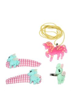 POP CUTIE | Pony Ring Necklace Hairclip Set
