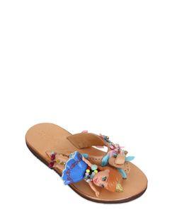 BONBON | Frozen Leather Flip Flops