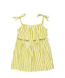 MARNI JUNIOR | Striped Cotton Sateen Top