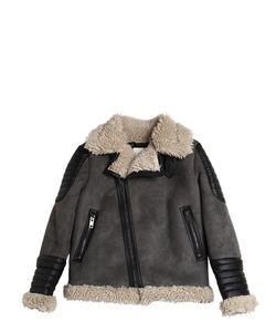 Diesel Kids | Faux Shearling Faux Suede Jacket