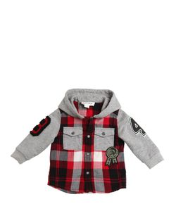 Diesel Kids | Hooded Light Flannel Cotton Sweatshirt