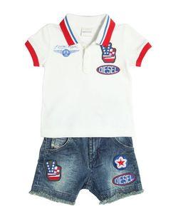 Diesel Kids | Cotton Piqué Polo Denim Shorts