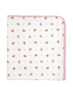RALPH LAUREN CHILDRENSWEAR | Bear Print Doubled Cotton Jersey Blanket