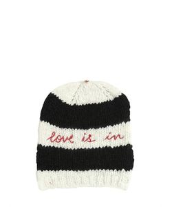 Péro | Love Is In Embroidered Wool Knit Hat