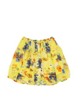 PREEN MINI | Lisa Floral Printed Gathered Crepe Skirt