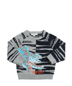 Kenzo Kids | Knitted Cotton Wool Jacquard Sweater