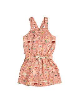 Nice Things Mini | Map Printed Cotton Satin Dress