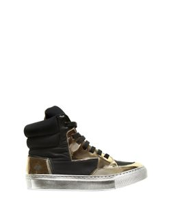 BRUNO BORDESE NEXT GENERATION | Neoprene Brushed Leather Sneakers