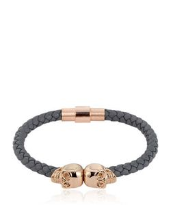 Northskull | Grey Nappa Leather Bracelet