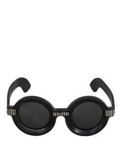 KUBORAUM BERLIN | Julius Silver Details Round Sunglasses