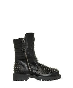 PHILIPP PLEIN JUNIOR | Studded Leather Ankle Boots