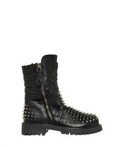 PHILIPP PLEIN JUNIOR   Studded Leather Ankle Boots