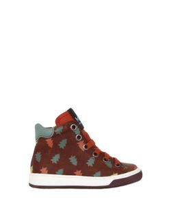 MAÁ | Trees Printed Leather High Top Sneakers