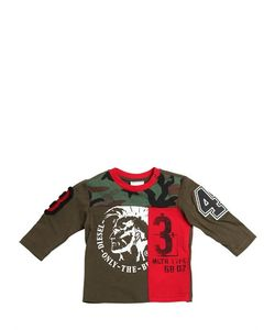 Diesel Kids | Patchwork Jersey Long Sleeve T-Shirt
