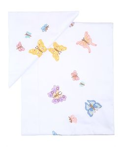 LORETTA CAPONI | Butterfly Flower Embroidered Sheet Set