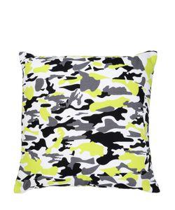 ADOLFO CARRARA | Camouflage Printed Cotton Canvas Pillow